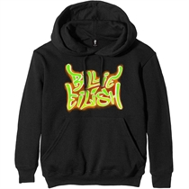 Eilish, Billie: Airbrush Flames Blohsh Black Hoodie