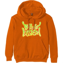 Eilish, Billie: Airbrush Flames Blohsh Orange Hoodie