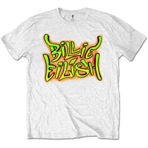 Eilish, Billie: Graffiti White T-shirt