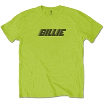 Eilish, Billie: Racer Logo & Blohsh Lime Green T-shirt