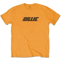 Eilish, Billie: Racer Logo & Blohsh Orange T-shirt
