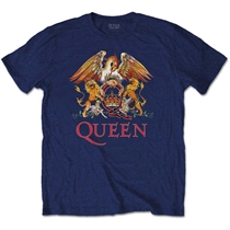 Queen: Classic Crest Blue T-shirt XL
