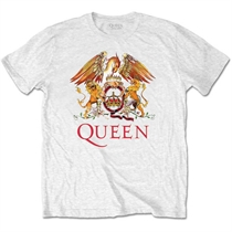 Queen: Classic Crest White T-shirt