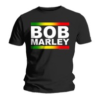 Marley, Bob: Rasta Band Block T-shirt