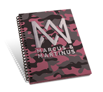 Marcus & Martinus: Notebog A5 Pink