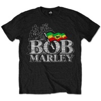 Marley, Bob: Distressed Logo T-shirt