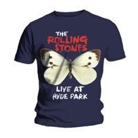 Rolling Stones: Butterfly Navy T-shirt